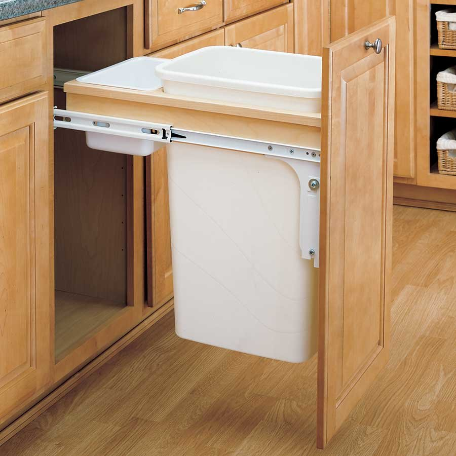 Trash cabinet hardware