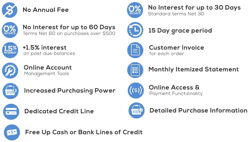 Business Credit Pro Advantage CabinetPartscom - Invoice 30 day terms