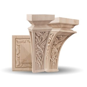 Nouveau Wood Elements by Brown Wood