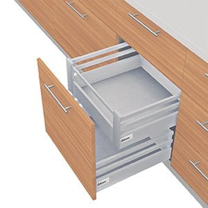 TANDEMBOX D Height With Double Gallery Interior Roll-out Drawer