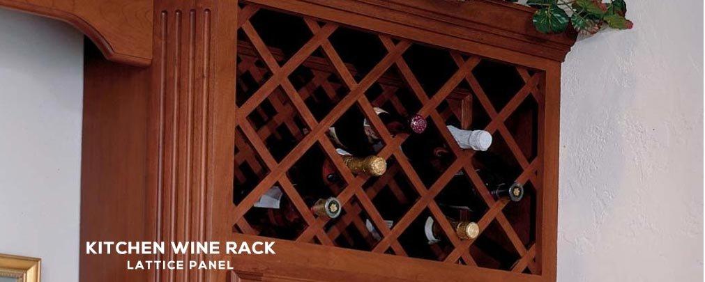 Wine Rack Lattice Panel