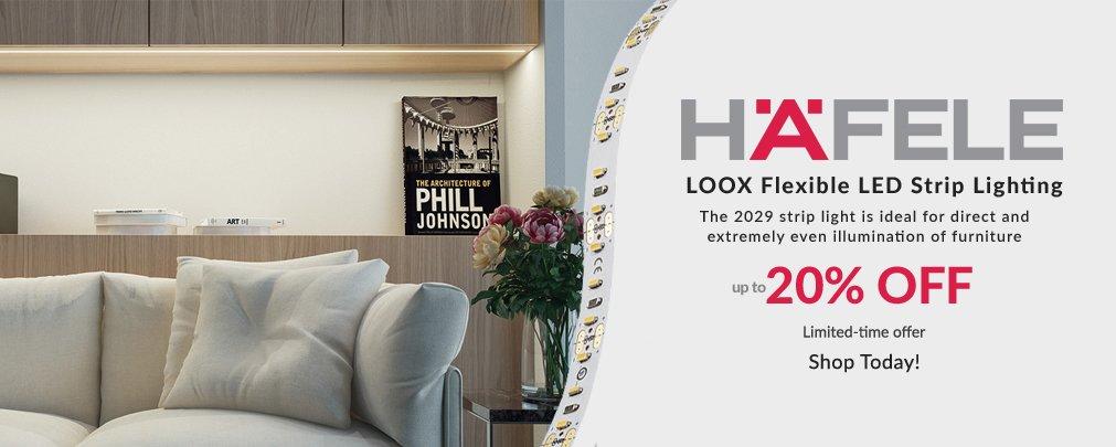 Loox 2029 Flexible LED Strip Lighting by Hafele