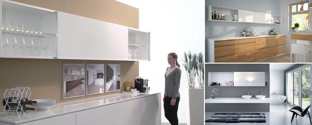 SlideLine M Sliding Door System for Cabinets & Furniture by Hettich