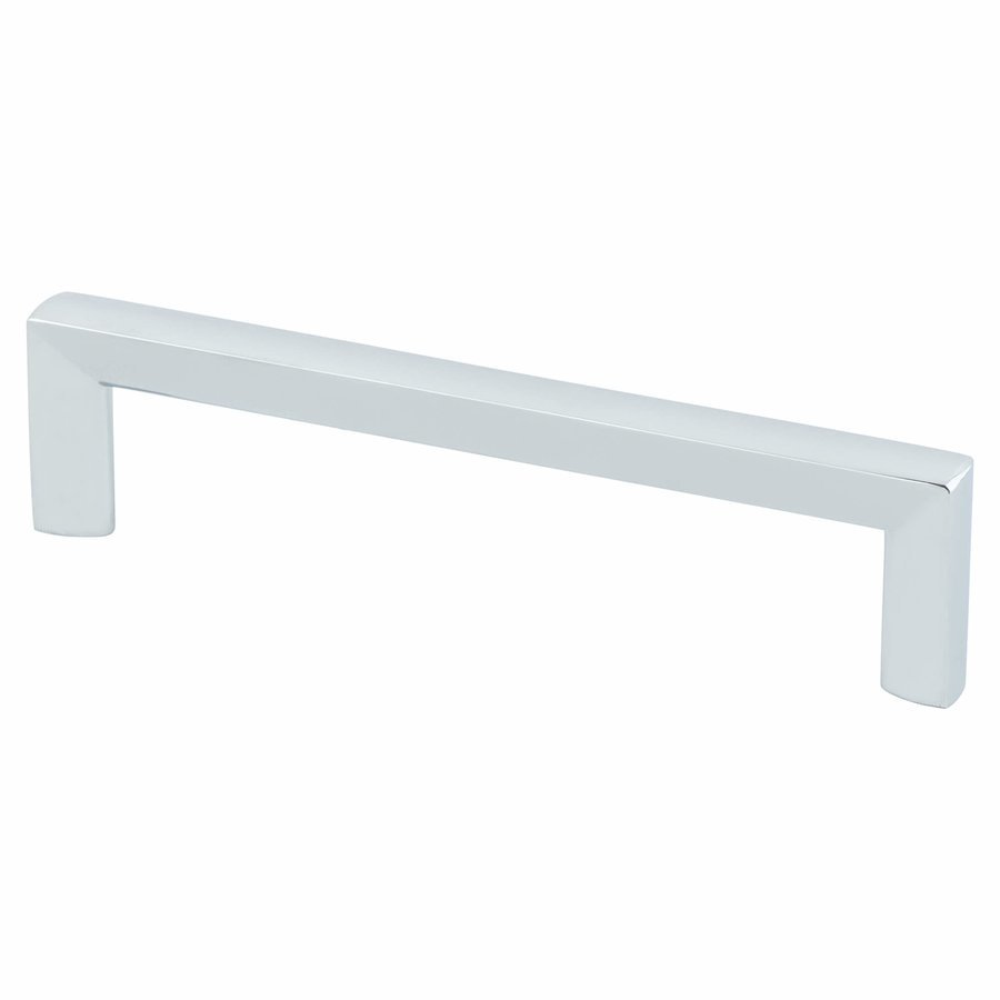 Berenson Metro 5 1/16 Inch Center To Center Polished Chrome Cabinet Pull  4114