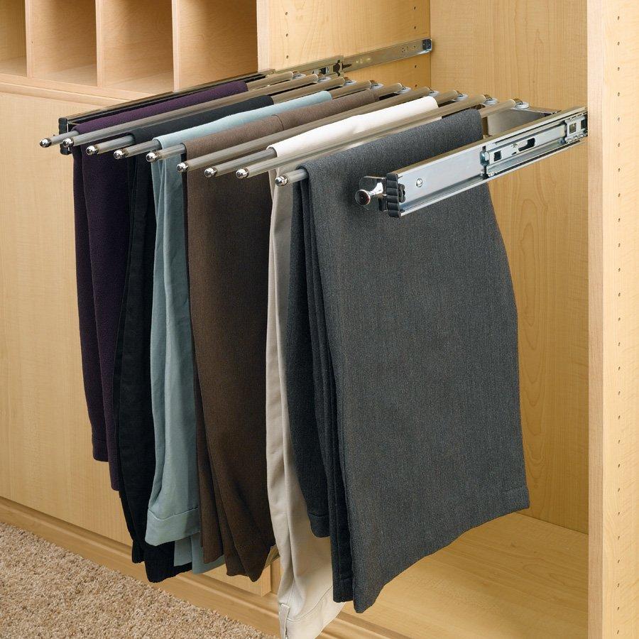 Rev A Shelf Pull Out Pants Rack 13 Pair Capacity PSC 2414CR