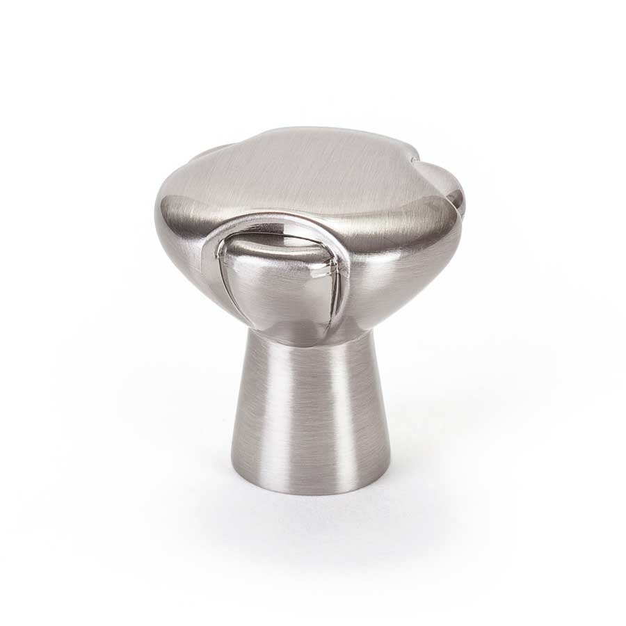 berenson vested interest 114 inch diameter brushed nickel cabinet knob