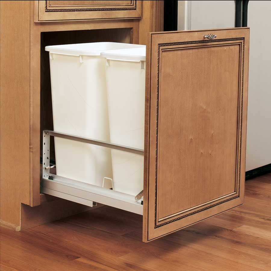 Rev a shelf door mount kit - Rev A Shelf Double Trash Pullout 50 Quart White 5349 2150dm