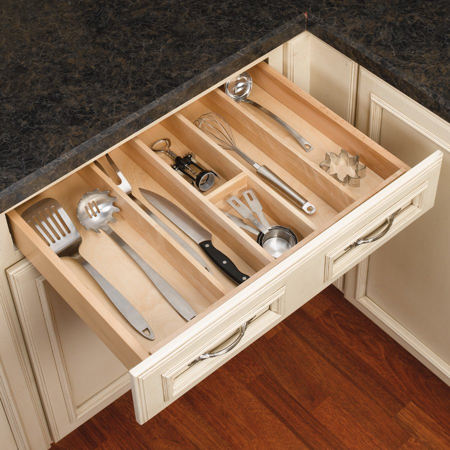 kitchen drawer dividers rev a shelf utility tray 24 quot w wood 4wut 3 cabinetparts 11624