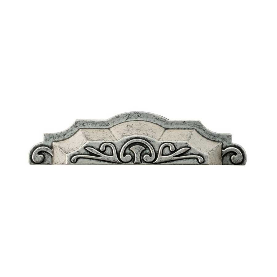 Liberty Hardware Augustine 4 Inch Center to Center Silver Hammered ...