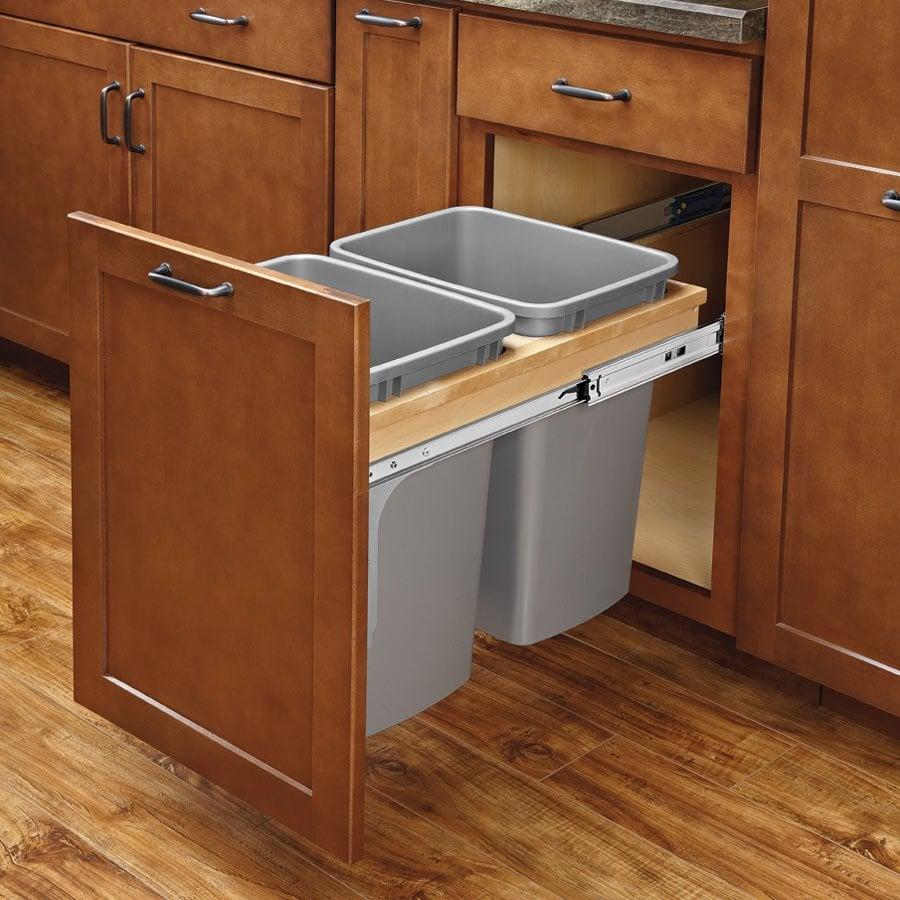 Rev A Shelf Double Trash Pullout 35 Quart W/ Soft Close 4WCTM