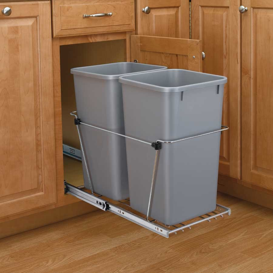 Rev a shelf door mount kit - Rev A Shelf Double Trash Pullout 27 Quart Silver Rv 15kd