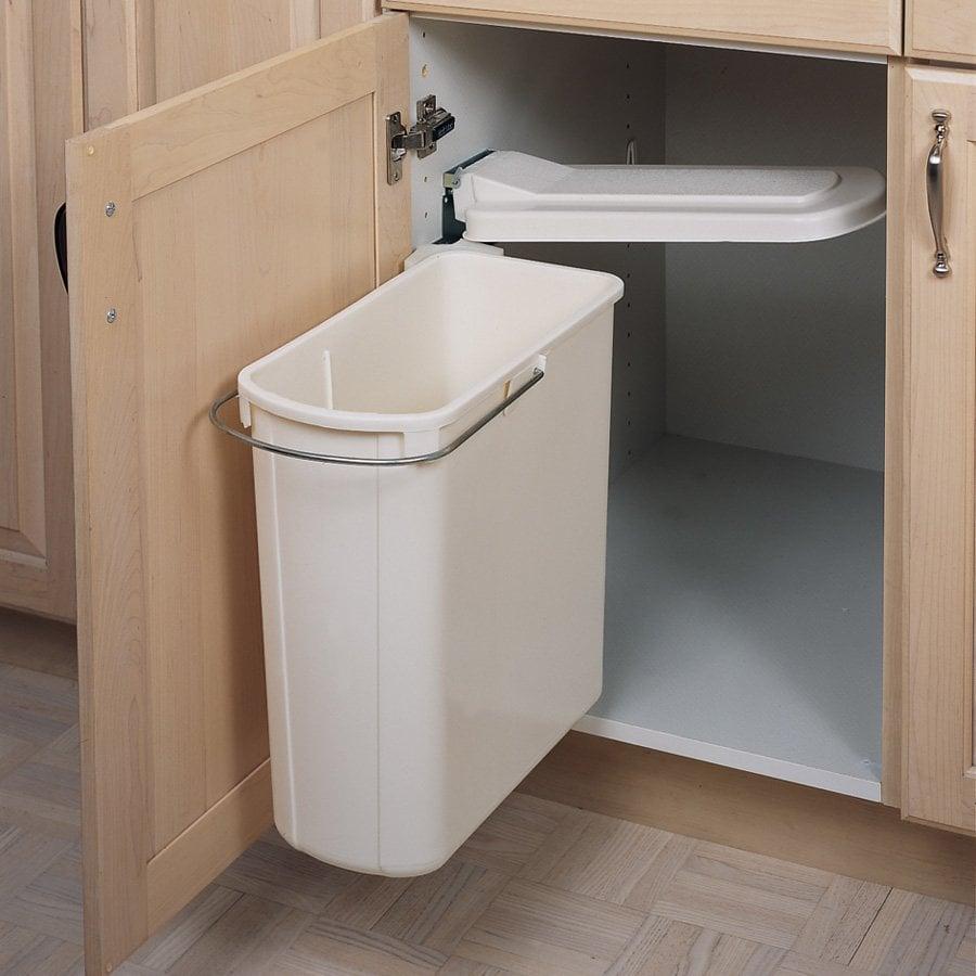 Rev A Shelf Single Pivot Out Trash 20 Litre White 8 700411