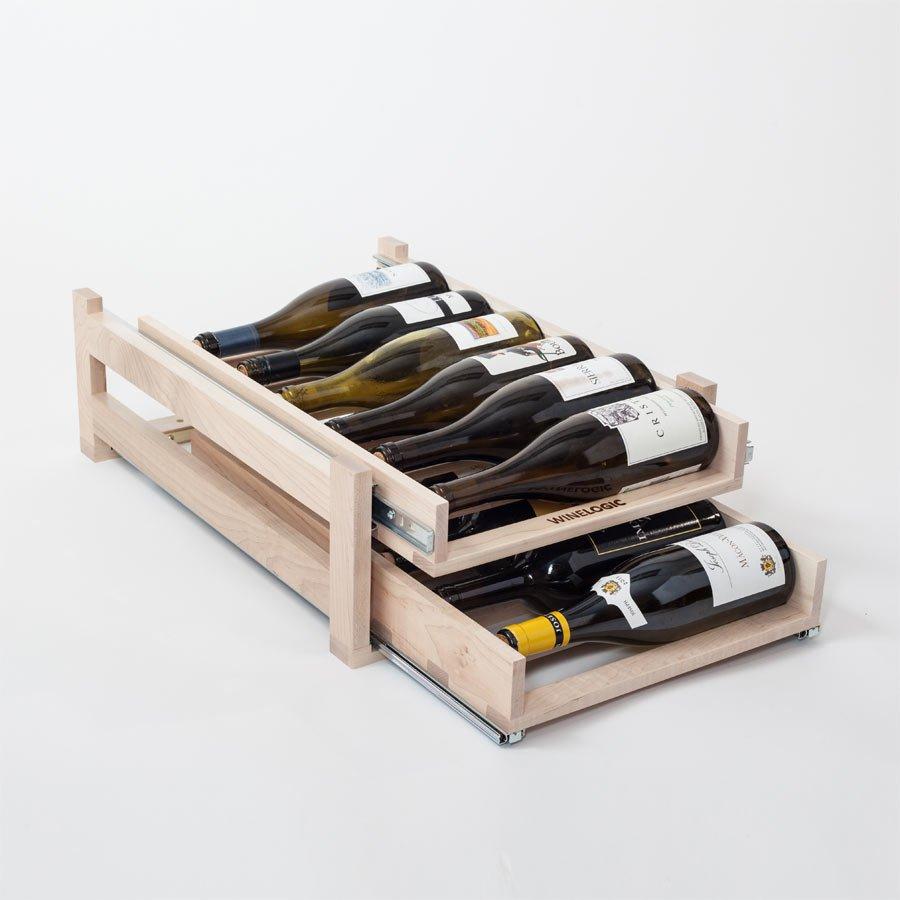 Kitchen Cabinet Wine Rack Insert: Wine Logic 2 Tray/12 Bottle In Cabinet Wine Rack Maple WL