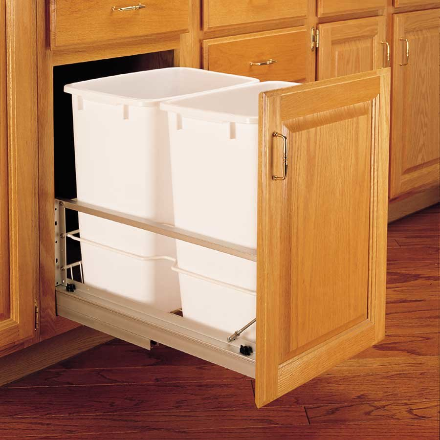 Rev a shelf door mount kit - Rev A Shelf Double Trash Pullout 35 Quart White 5349 18dm