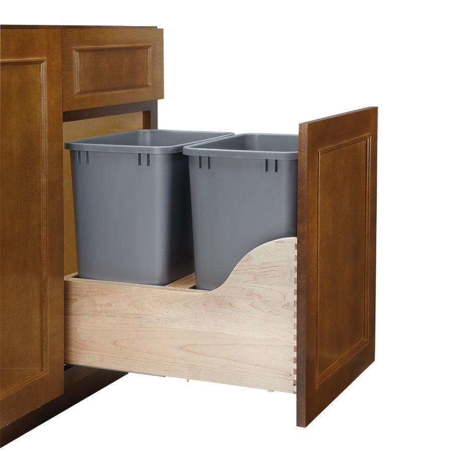 Wonderful Rev A Shelf Soft Close Double Trash Pullout 35 Quart 4WCSC 1835DM