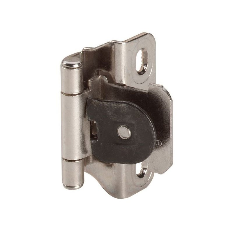 Amerock Single Demountable 1/4u0026quot; Overlay Hinge Nickel Pair CM871514