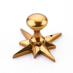Sonata 11/16 Inch Diameter Paris Brass Cabinet Knob