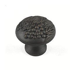 Vineyard 1-3/8 Inch Diameter Weathered Bronze/Copper Cabinet Knob