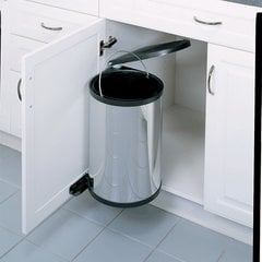 Single Trash Pullout 15 Liter-Stainless Steel