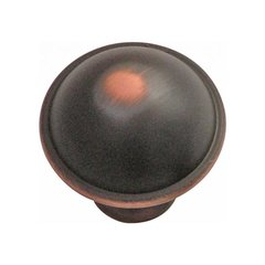 Savoy 1-1/4 Inch Diameter Oil Rubbed Bronze Highlighted Cabinet Knob