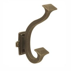 Bungalow Double Coat Hook Windover Antique <small>(#P2155-WOA)</small>