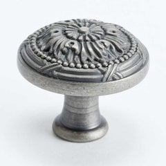 Plymouth 1-1/4 Inch Diameter Weathered Nickel Cabinet Knob <small>(#8258-1WN-P)</small>