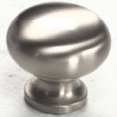 Country 1-1/4 Inch Diameter Satin Nickel Cabinet Knob