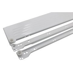 Metabox Slide 3.5 inch H x 22 inch L- White with Front Fix. Brackets