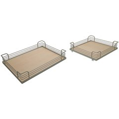 Arena Plus Tray Set (4) Chrome/Maple