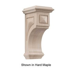 Small Apex Corbel Unfinished Alder