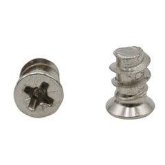 6mm x 10mm Pozi Euro Screws (25 Pack)