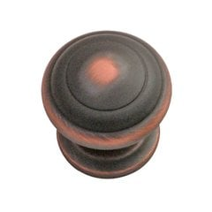 Zephyr 1-1/4 Inch Diameter Oil Rubbed Bronze Highlighted Cabinet Knob