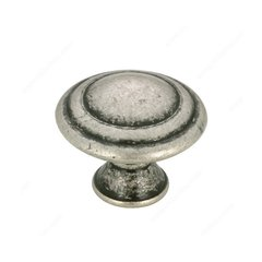 Art Deco 1-3/16 Inch Diameter Old Silver Cabinet Knob <small>(#BP20630139)</small>