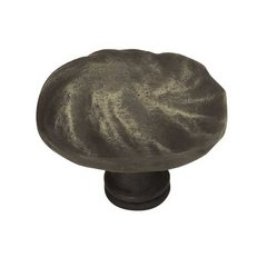 Rustique 1-5/8 Inch Diameter Distressed Oil Rubbed Bronze Cabinet Knob