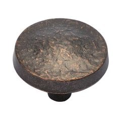 Bedrock 1-1/4 Inch Diameter Dark Antique Copper Cabinet Knob