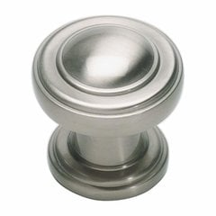 Bronte 1-1/8 Inch Diameter Brushed Nickel Cabinet Knob