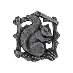 Great Outdoors 1-1/2 Inch Diameter Antique Pewter Cabinet Knob <small>(#NHK-177-AP-L)</small>