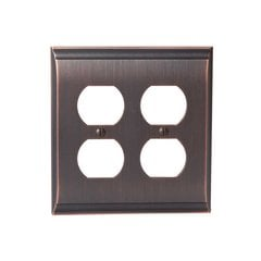 Candler Two Receptacle Wall Plate Oil Rubbed Bronze