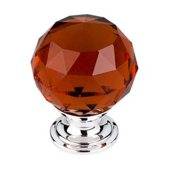 Crystal 1-3/8 Inch Diameter Wine Crystal Cabinet Knob <small>(#TK122PC)</small>
