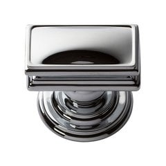 "Campaign Knob 1-1/2"" Long Polished Chrome <small>(#377-CH)</small>"