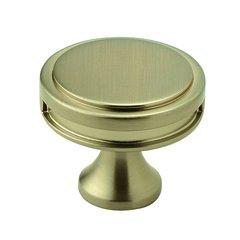 "Oberon Knob 1-3/8"" Dia Golden Champagne"