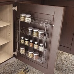 "Spice Rack 7-1/4"" W X 18"" H Chrome"