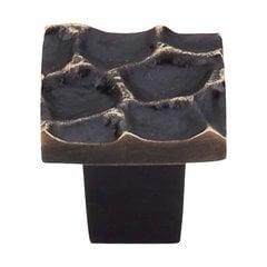 Cobblestone 1-1/8 Inch Diameter Brass Antique Cabinet Knob <small>(#TK300BA)</small>