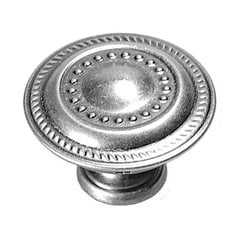 Manor House 1-1/4 Inch Diameter Silver Stone Cabinet Knob