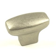 Glacier 1-1/2 Inch Diameter Weathered Nickel Cabinet Knob
