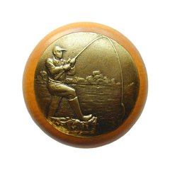 Great Outdoors 1-1/2 Inch Diameter Antique Brass Cabinet Knob <small>(#NHW-707M-AB)</small>