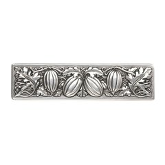 Kitchen Garden 3 Inch Center to Center Brilliant Pewter Cabinet Pull <small>(#NHP-651-BP)</small>