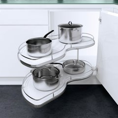 "Twin Corner Left Hand Blind Corner 36"" Chrome <small>(#9000 2260)</small>"