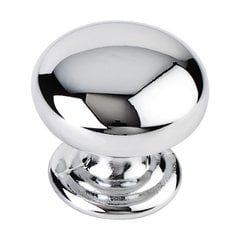Florence 1-1/4 Inch Diameter Polished Chrome Cabinet Knob <small>(#2980PC)</small>
