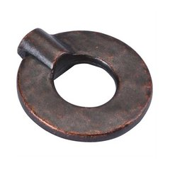 Hammered Iron 1-3/8 Inch Diameter Dark Antique Copper Cabinet Knob